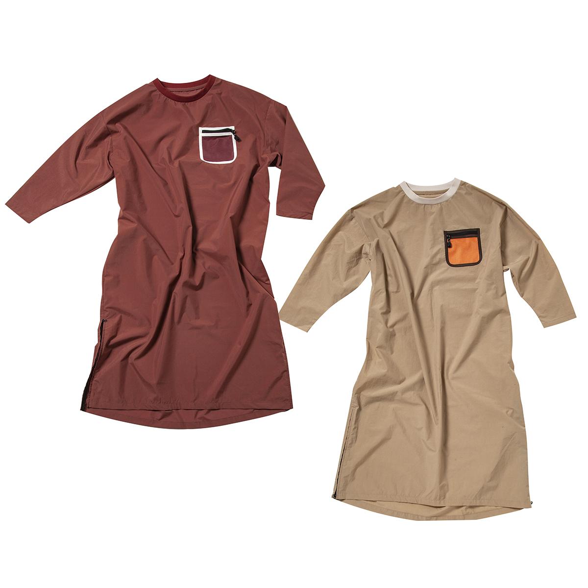 AWESOME ONEPIE オーサムワンピ(WOMEN) Number : s20-so-w03 Fabric : Nylon 100% Size:FREE Color:Old Rose, Beige Price : ¥11,800