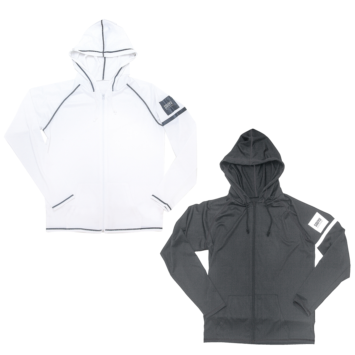 RASH HOODIE ラッシュフード Number : s20-so-04 Fabric : Polyester 87% PU 13% Size : XS, S, M, L, XL Color:White, Black Price : ¥7,800