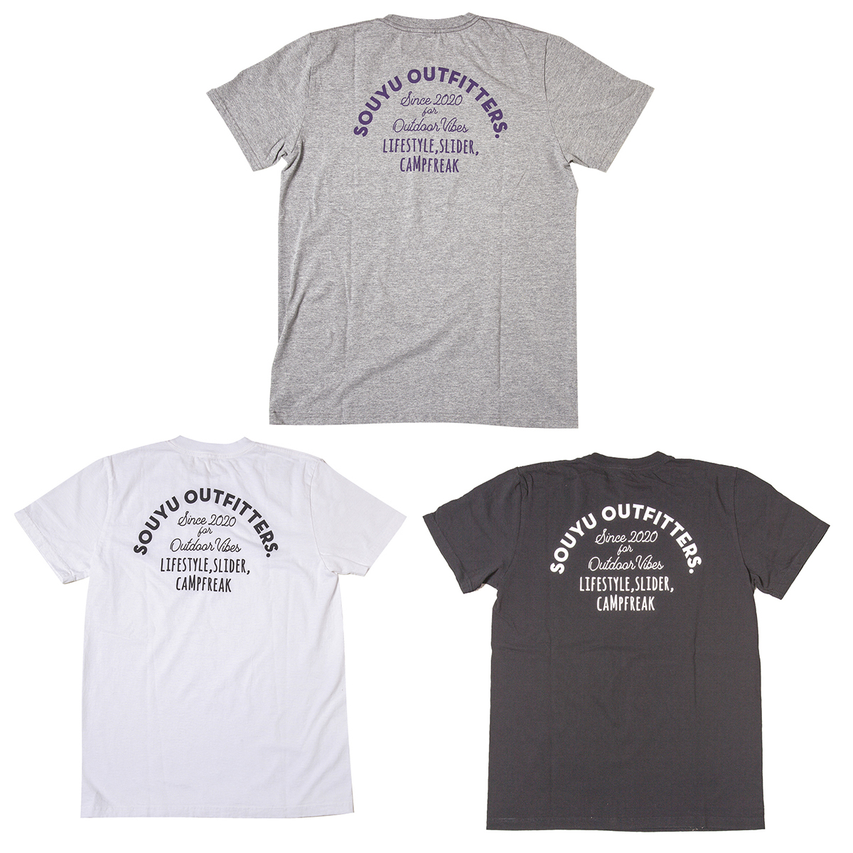 YOUR LIFESTYLE TEE ユアライフスタイル T シャツ Number : s20-so-10A Fabric : Cotton 100% Size : XS, S, M, L, XL Color:Gray Heather, White, Black Price : ¥4,800